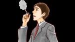 タバコを吸うスーツ姿の上司・社会人男性