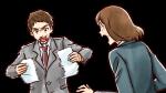 激怒して紙をぐしゃぐしゃにするスーツ姿の上司・社会人男性