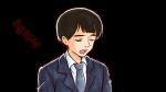 居眠りするスーツ姿の若い社会人男性