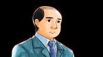 悲しみ・落ち込む表情を見せるスーツ姿のハゲたおじさん