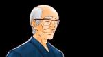 真面目な表情を浮かべるイケメンのおじいさん・老人