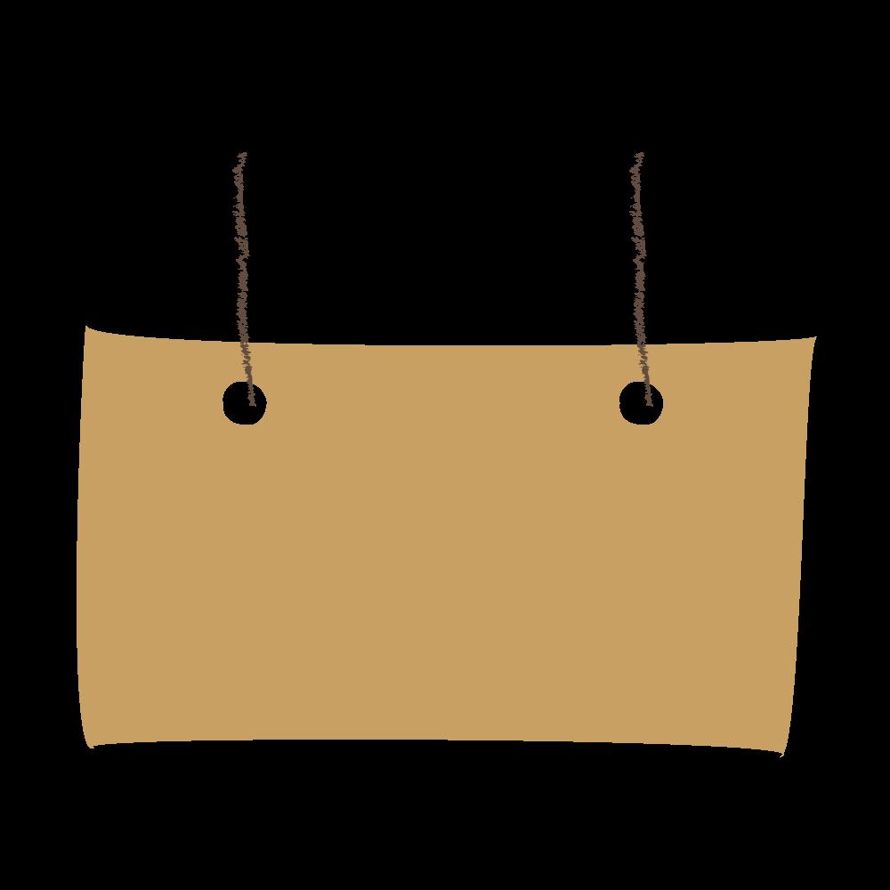 吊り看板・タグ風の飾り罫・デザインフレームのフリーイラスト画像素材【商用無料】 アイキャッチャー