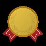 金メダルの飾り罫・デザインフレーム