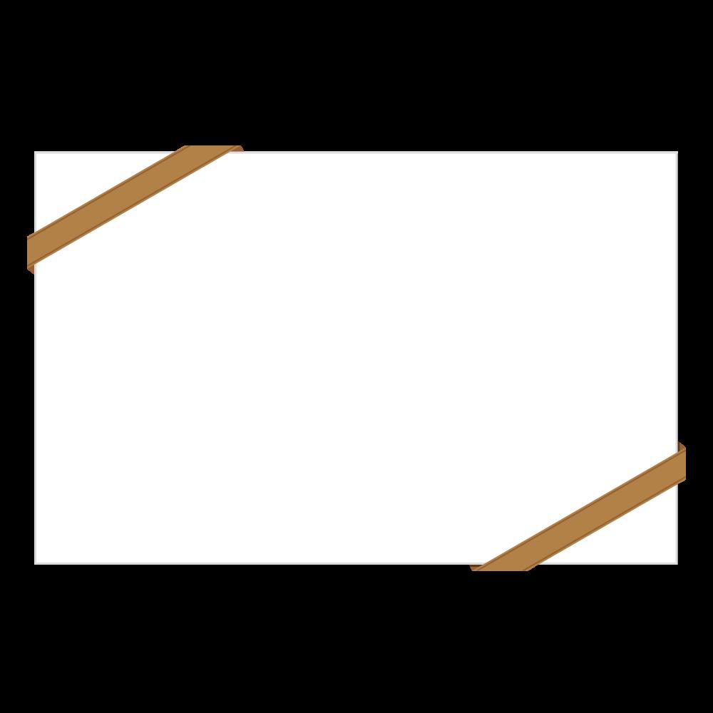 招待状風のフレーム・飾り枠のフリーイラスト画像素材【商用無料