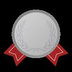 銀メダルの飾り罫・デザインフレーム