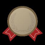 銅メダルの飾り罫・デザインフレーム