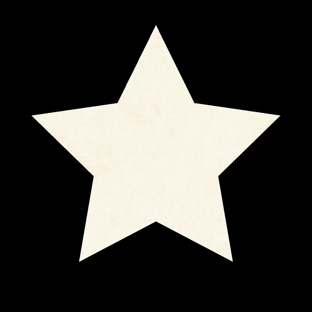 紙テクスチャの星の吹き出しのフリーイラスト画像素材【商用無料