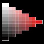明度・彩度・グラデーションのアイコン