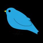 止まる青い鳥のアイコン