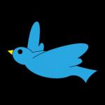 飛ぶ青い鳥のアイコン