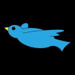 滑空する青い鳥のアイコン