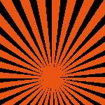 おめでたいオレンジの集中線の模様・パターン